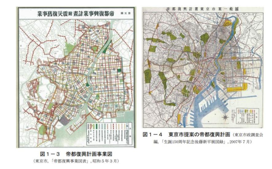 関東大震災,復興,施策